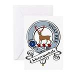 Mccorquodale Clan Badge Greeting Cards (Package of