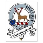 Mccorquodale Clan Badge Small Poster