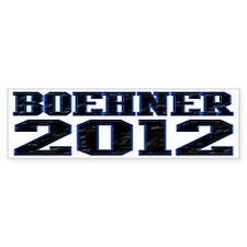 Boehner 2012 Bumper Sticker