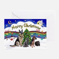 X-Music #1-2G-Sheps,2cats Greeting Cards (Pk of 10