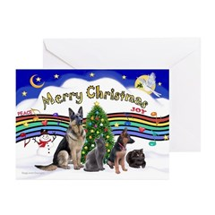 X-Music #1-2G-Sheps,2cats Greeting Cards (Pk of 20