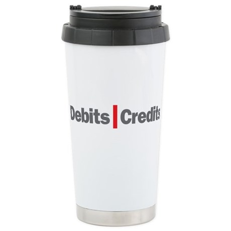 Debits and Credits Stainless Steel Travel Mug