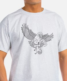 Last Great Act of Defiance - lineart - T-Shirt