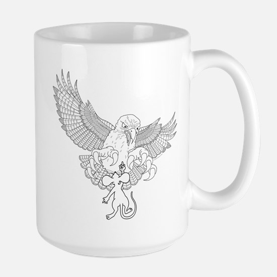 Last Great Act of Defiance - lineart - Large Mug