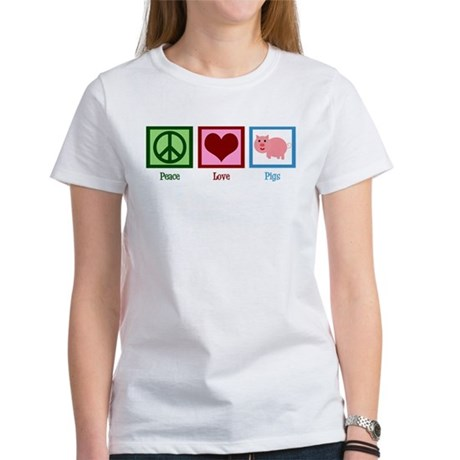 Peace Love Pigs Women's T-Shirt