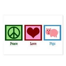 Peace Love Pigs Postcards (Package of 8)