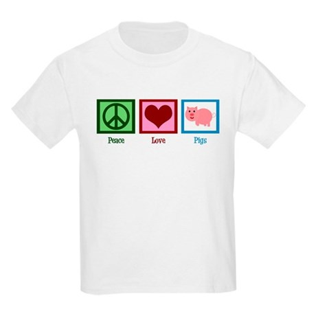 Peace Love Pigs Kids Light T-Shirt