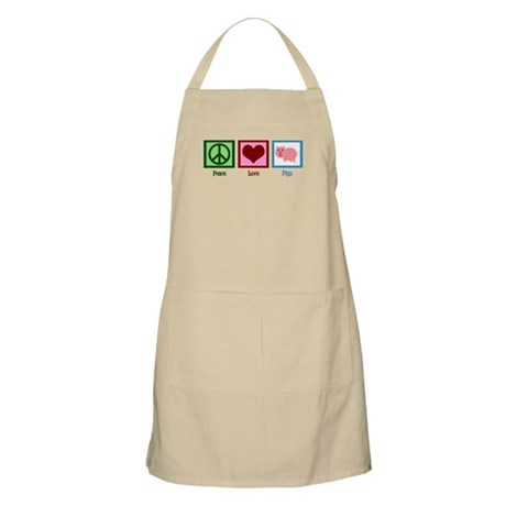 Peace Love Pigs Apron