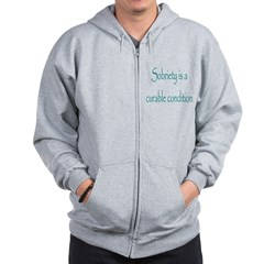Sobrity A Curable Condition Zip Hoodie