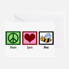 Peace Love Bees Greeting Card