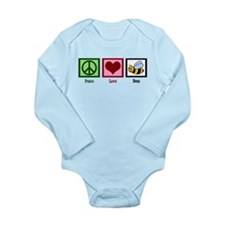 Peace Love Bees Long Sleeve Infant Bodysuit