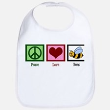 Peace Love Bees Bib
