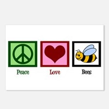 Peace Love Bees Postcards (Package of 8)