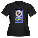 Terroe Alert Women's Plus Size V-Neck Dark T-Shirt