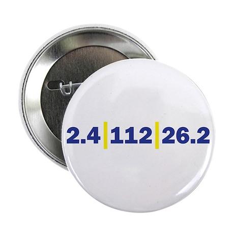 "Triathlon Distance Blue Yello 2.25"" Button"