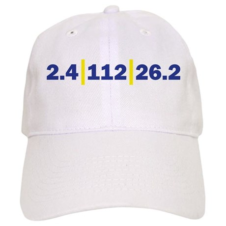 Triathlon Distance Blue Yello Cap