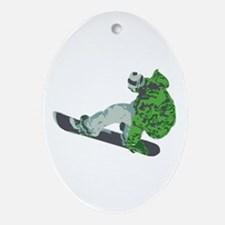 Snowboarding Ornament (Oval)