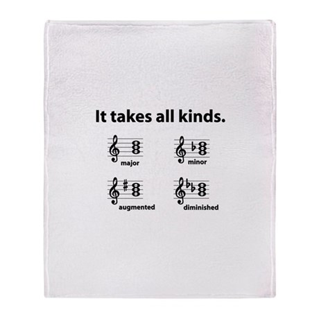 All Kinds Triads Throw Blanket