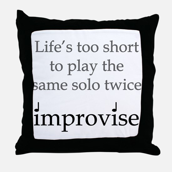 Improvise Solos Throw Pillow