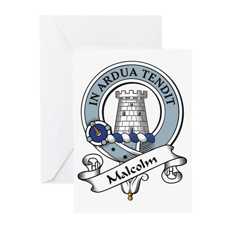Malcolm Clan Badge Greeting Cards (Pk of 10)