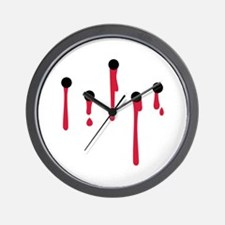 Bullet holes blood Wall Clock