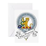MacThomas Clan Badge Greeting Cards (Pk of 10)