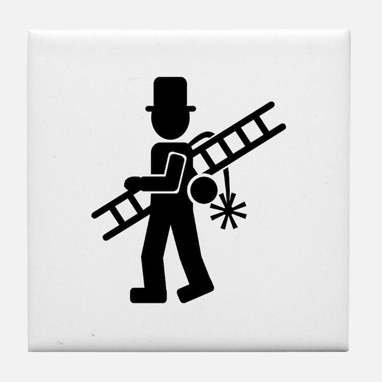 Chimney sweeper Tile Coaster