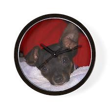 Toy Fox Terrier Wall Clock