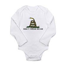 Don't Tread On Me Long Sleeve Infant Bodysuit