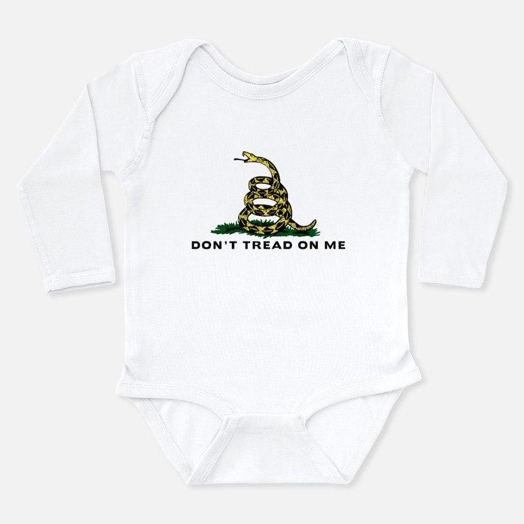 Don't Tread On Me Long Sleeve Infant Bodysuit