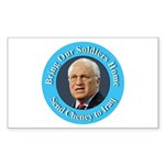 Soldiers Home Cheney to Iraq Rectangle Sticker