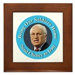 Soldiers Home Cheney to Iraq Framed Tile