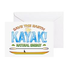 Kayak Energy Greeting Card
