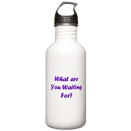 """What Are You Waiting For"""" Stainless Water Bottle 1"""