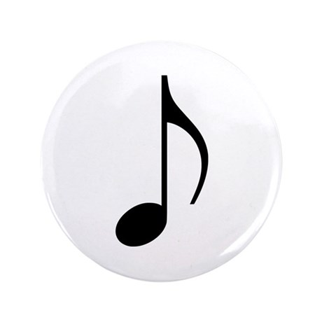 """Music note 3.5"""" Button (100 pack)"""