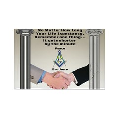 Masonic Life Message Rectangle Magnet (10 pack)