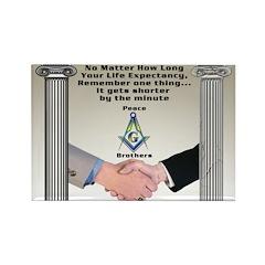 Masonic Life Message Rectangle Fridge Magnet
