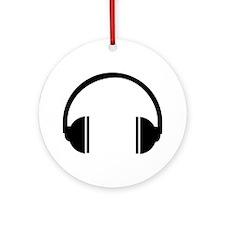 Headphones Ornament (Round)