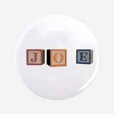 "Joe Alphabet Block 3.5"" Button"
