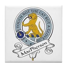 MacPherson Clan Badge Tile Coaster
