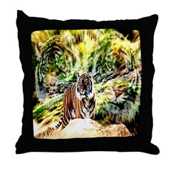 Anime Angel - Tiger Anime Throw Pillow