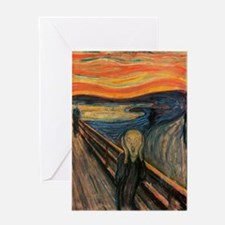 The Scream Skrik Greeting Card