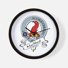 MacNicol Clan Badge Wall Clock
