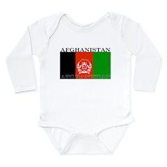 Afghanistan Afghan Flag Long Sleeve Infant Bodysui