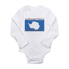 Antarctica Flag Long Sleeve Infant Bodysuit