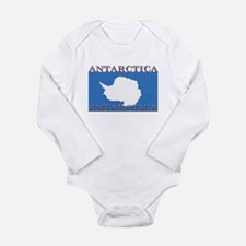 Antarctica Flag Long Sleeve Infant Bodysuit