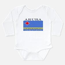 Aruba Aruban Flag Onesie Romper Suit