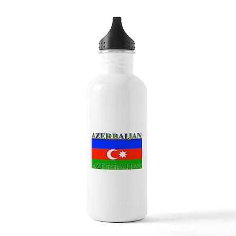 Azerbaijan Azerbaijani Flag Stainless Water Bottle