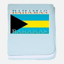 Bahamas Bahama Flag baby blanket