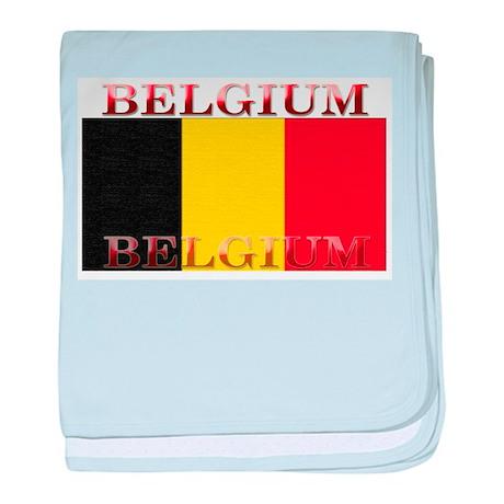 Belgium Belgian Flag baby blanket